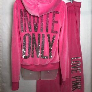 Victoria's Secret Pink Sequin Invite Only Set M